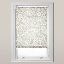 Buy Mini Moderns Paisley Daylight Roller Blind, White / Grey Online at johnlewis.com