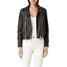 Buy AllSaints Leather Dare Biker Jacket Online at johnlewis.com