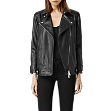 Buy AllSaints Ryder Leather Biker Jacket, Black Online at johnlewis.com