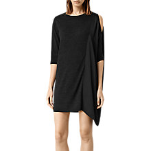 Buy AllSaints Argo Dress, Cinder Marl/Black Online at johnlewis.com