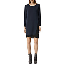 Buy AllSaints Roder Dress, Black/Ink Online at johnlewis.com