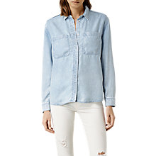 Buy AllSaints Riva Shirt, Light Blue Online at johnlewis.com