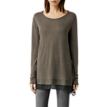 Buy AllSaints Miro Long Sleeved T-Shirt Online at johnlewis.com