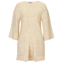 Buy Betty & Co. Chunky Knit Cardigan, Bright Cream Melange Online at johnlewis.com