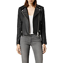Buy AllSaints Drew Biker Jacket Online at johnlewis.com