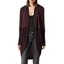 Buy AllSaints Silk Itat Shrug, Bordeaux Online at johnlewis.com
