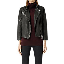 Buy AllSaints Leather Mast Biker Jacket Online at johnlewis.com