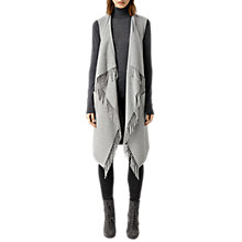 Buy AllSaints Paxon Sleeveless Coat, Pale Grey Online at johnlewis.com