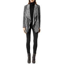 Buy AllSaints Alpha Roux Jacket, Black/White Online at johnlewis.com