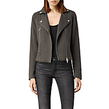 Buy AllSaints Kit Biker Sweater Jacket Online at johnlewis.com