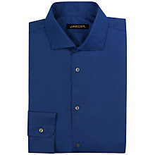 Buy Jaeger Stretch Poplin Slim Shirt, Navy Online at johnlewis.com