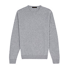 Buy Jaeger Cashmere Crew Neck Jumper, Grey Online at johnlewis.com