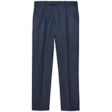Buy Jaeger Wool Birdseye Modern Trousers, Navy Online at johnlewis.com
