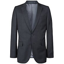 Buy Jaeger Wool Tonal Check Modern Jacket, Charcoal Online at johnlewis.com