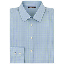 Buy Jaeger Micro Check Classic Shirt, Green Online at johnlewis.com