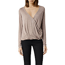 Buy AllSaints Kerin Long Sleeve Top Online at johnlewis.com