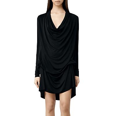 AllSaints Amei Long Sleeve Dress, Black
