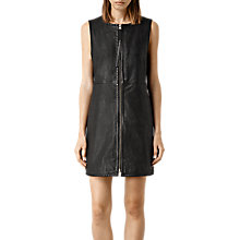 Buy AllSaints Laced Maya Leather Dress, Black Online at johnlewis.com