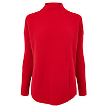 Buy Karen Millen Ribbed Turtleneck Jumper, Red Online at johnlewis.com