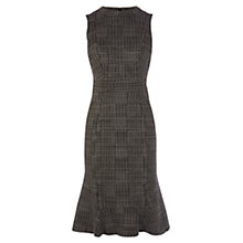 Buy Karen Millen Checked Sleeveless Dress, Black Online at johnlewis.com