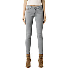 Buy AllSaints Mast Skinny Jeans, Light Grey Online at johnlewis.com