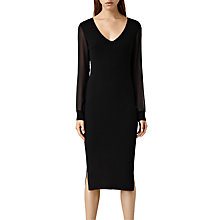 Buy AllSaints Milo Dress, Black Online at johnlewis.com