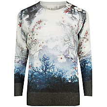 Buy Ted Baker Marley Misty Mountains Print Jumper, Mid Blue Online at johnlewis.com