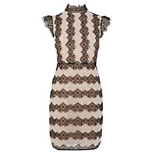 Buy Karen Millen Lace Stripe Dress, Black/White Online at johnlewis.com