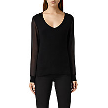 Buy AllSaints Milo Jumper, Black Online at johnlewis.com
