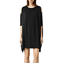 Buy AllSaints Alexa Dress, Cinder Marl/Black Online at johnlewis.com