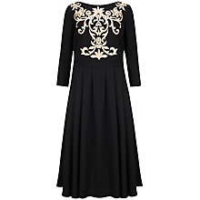 Buy Ted Baker Shamari Metallic Embroidered Bodice Dress, Black Online at johnlewis.com