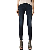 Buy AllSaints Rail Side Zip Skinny Jeans Online at johnlewis.com