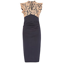 Buy Jolie Moi Lace Ruffle Shoulder Dress, Navy Online at johnlewis.com