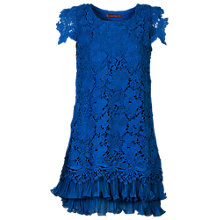 Buy Jolie Moi Crochet Dress, Royal Blue Online at johnlewis.com