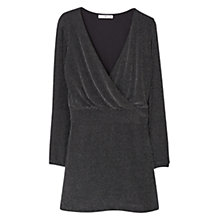 Buy Mango Metallic Thread Dress, Silver Online at johnlewis.com