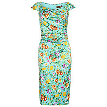 Buy Jolie Moi Floral Retro Print Dress, Aqua Floral Online at johnlewis.com