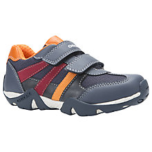 Buy Geox Children's Aragon Rip-Tape Trainers, Navy/Orange Online at johnlewis.com