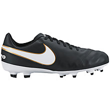 Buy Nike Children's Tiempo Legend Turf Football Boots, Black/Multi Online at johnlewis.com