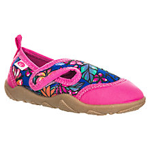 Buy Animal Children's Bram Beach Shoes, Neon Pink Online at johnlewis.com