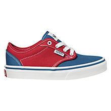 Buy Vans Children's 2 Tone Atwood Shoes, Blue/Red Online at johnlewis.com