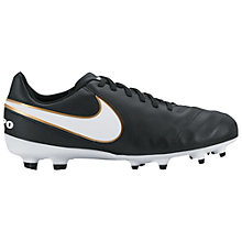 Buy Nike Children's Tiempo Legend Firm Ground Football Boots, Black/Multi Online at johnlewis.com