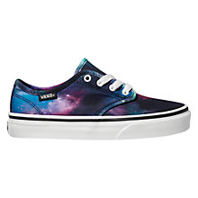 Buy Vans Children's Camden Stripe Shoes, Black/Blue Online at johnlewis.com