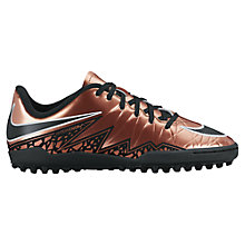 Buy Nike Children's HyperVenom Phelon II Football Boots, Mettallic Bronze Online at johnlewis.com