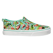 Buy Vans Children's Asher Flamingo Print Slip-On Shoes, Mint Online at johnlewis.com