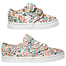 Buy Vans Children's Atwood V Floral Shoes, Multi/White Online at johnlewis.com