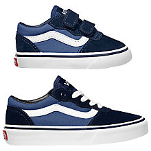 Buy Vans Children's Milton V Shoes, Navy Online at johnlewis.com