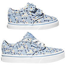 Buy Vans Children's Atwood V Floral Shoes, Light Blue/White Online at johnlewis.com