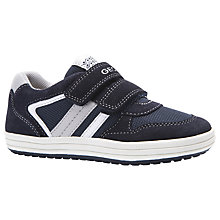 Buy Geox Children's Vita Rip-Tape Trainers, Navy/Black Online at johnlewis.com