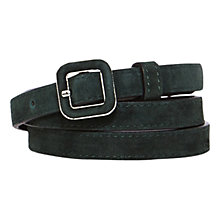 Buy Karen Millen Suede Skinny Belt, Green Online at johnlewis.com