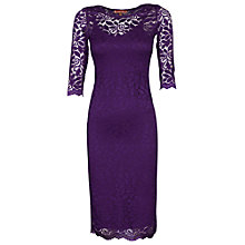 Buy Jolie Moi Bodycon Midi Dress, Dark Purple Online at johnlewis.com